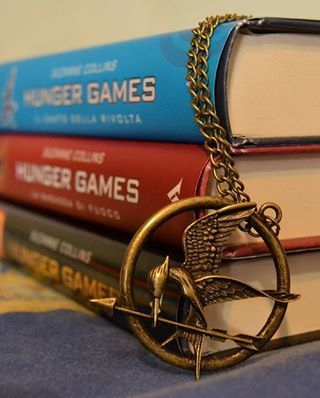 The Hunger Games  Great read if...you enjoy dystopian novels, torn love stories, books about unlikely circumstances, female heroes, and satisfying endings.