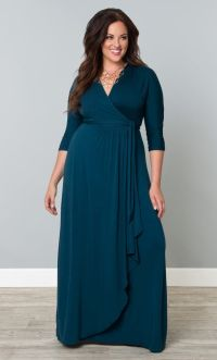 Indulge yourself in rich teal with our plus size Wrapped ...