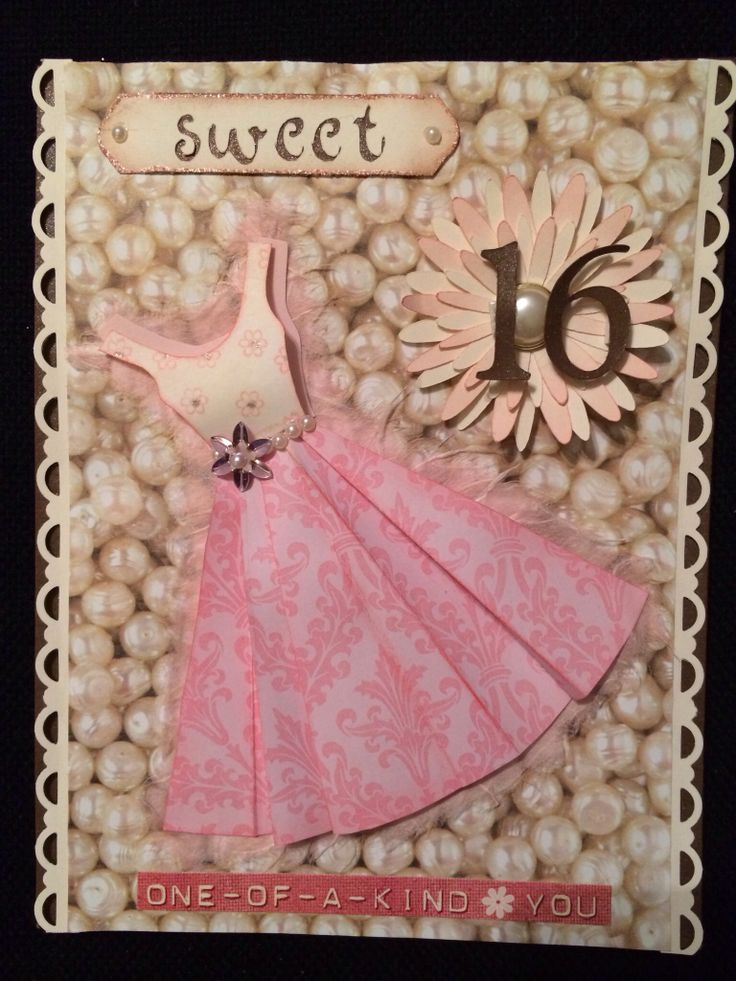 Sweet 16 Birthday Card Scrapbook Card Ideas Pinterest