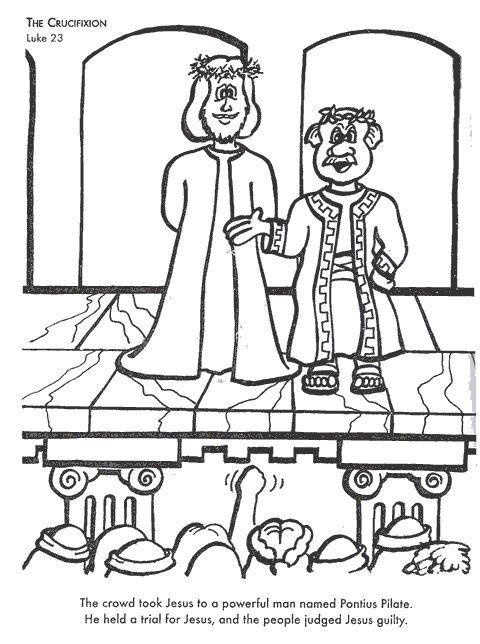 Jesus On Trial Page Coloring Pages