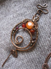 Wire Wrapped Copper Shawl Pin - Copper Wire Shawl Pin ...