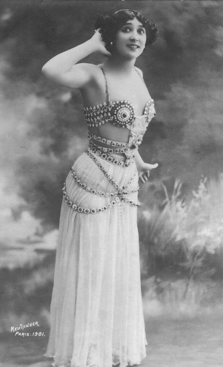 La Belle Otero in an orientalizing costume for the Folies Bergere ...