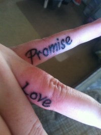 Finger Promise Tattoo Pictures to Pin on Pinterest