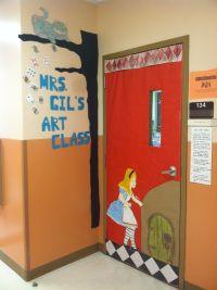 My new class door. Alice in wonderland! | Alice in ...
