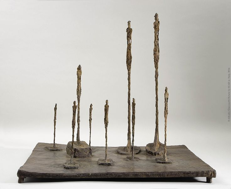 Alberto Giacometti  The Glade 1950  Bronze 58.7 x 65.3 x 52.5 cm  Collection Fondation Giacometti, Paris  © Alberto Giacometti Estate by SIAE in Italy, 2014