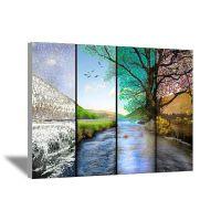 Four seasons canvas wall art | Four seasons | Pinterest