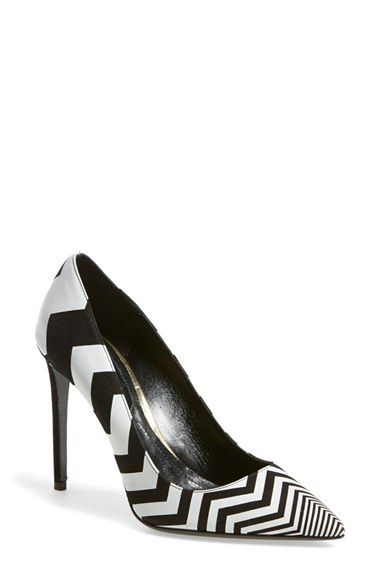 Nicholas Kirkwood Chevron Pointy Toe Pumps