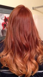 red color melting hair ombre
