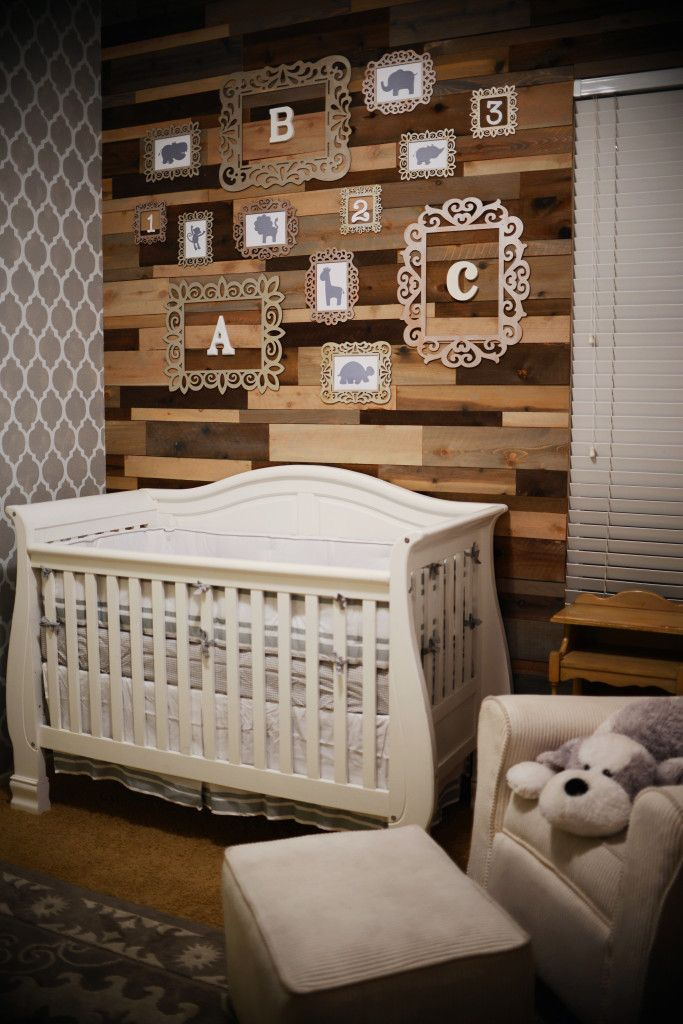 this is what we will be doing with barn wood and yellow walls.  Think the picture frames are super cute