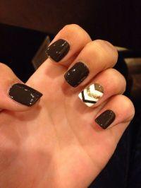 Fall chevron nail art | n a i l s | Pinterest