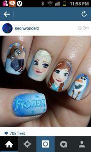 frozen nails elsa anna sphen