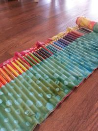 Diy colored pencil holder | Sewing | Pinterest