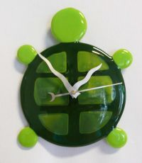 Turtle Clock! | Stained Glass & Fused Glass | Pinterest