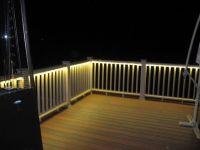Deck rail lighting | Garden Decor | Pinterest