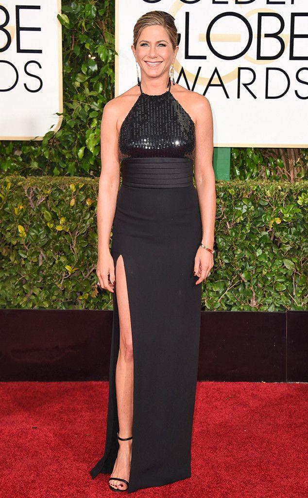 Jennifer Aniston from 2015 Golden Globes Red Carpet Arrivals | E! Online