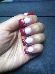 moon shape nails