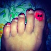 diy bow toe nails nail design