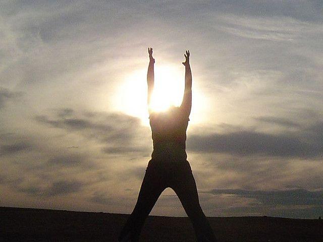 Sun salutation Sun Head