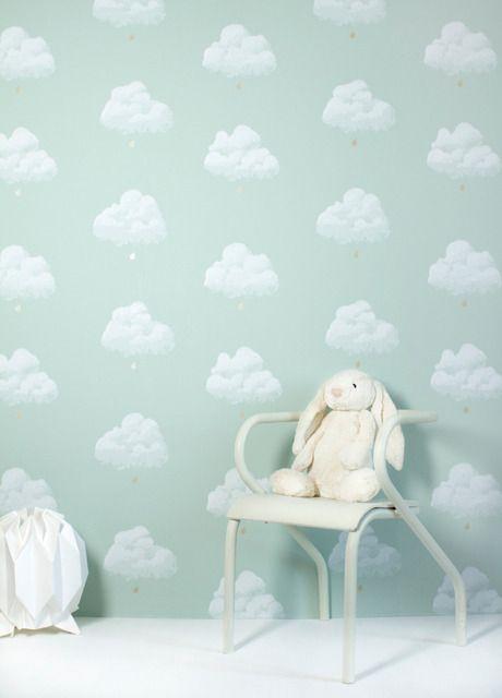 Lief Behang | Bartsch_papier_nuagesvert