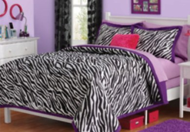 Purple And Zebra Print Room Decor