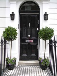 Planters by front door   Curb Appeal   Pinterest
