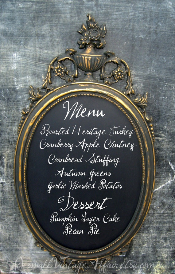Get an old mirror and paint blackboard paint over it.  Then you have your own chalkboard.