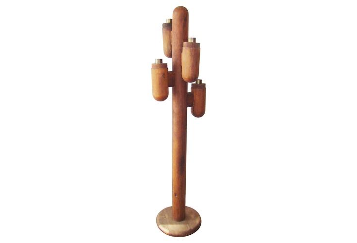 Wood Cactus Floor Lamp