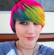 rainbow hair. awesome hair colour