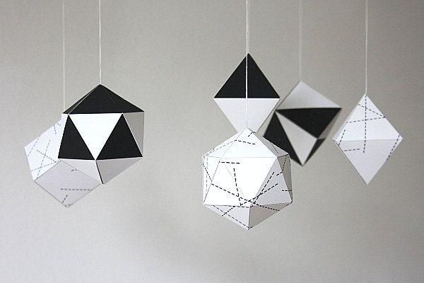 Geometric paper #Christmas ornaments