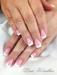 Pin by Lisa Saltiel-Korallus on Pink and White Gel Nails ...