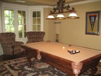 pool table in living room | New house ideas | Pinterest
