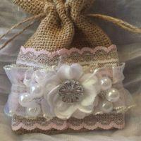 Shabby chic burlap bag | Crafts | Pinterest