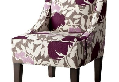Purple And Gray Accent Chair