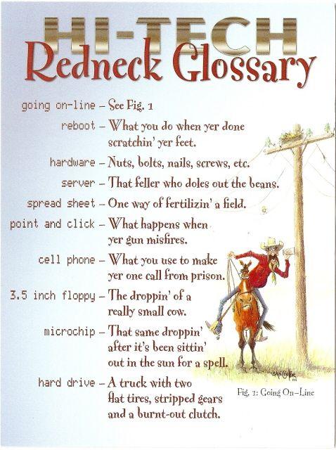 Redneck Words Funny Stuff Pinterest