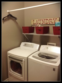 Simply laundry room with drying rod | laundry room | Pinterest
