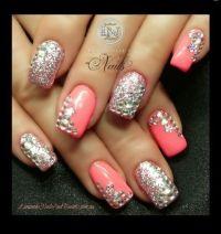Blinged out nails - Nail Art | Hair, Nails && Make Up ...
