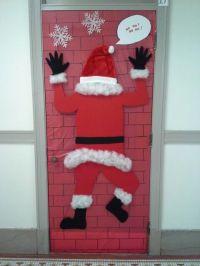 Door decorating contest idea - Santa | Lara | Pinterest