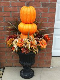 Simple outdoor urns Fall Decor .... | Fall Decoration ...
