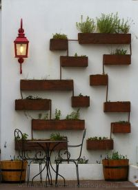 Patio wall pots design #Decor | Beautiful Interiors and ...