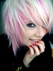 short hair style cute pink