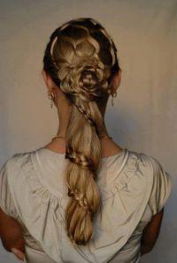 rose-shape #braid #wedding #hair #prom #hair | Wedding ...