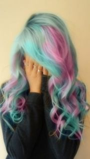 cotton candy color hair pink