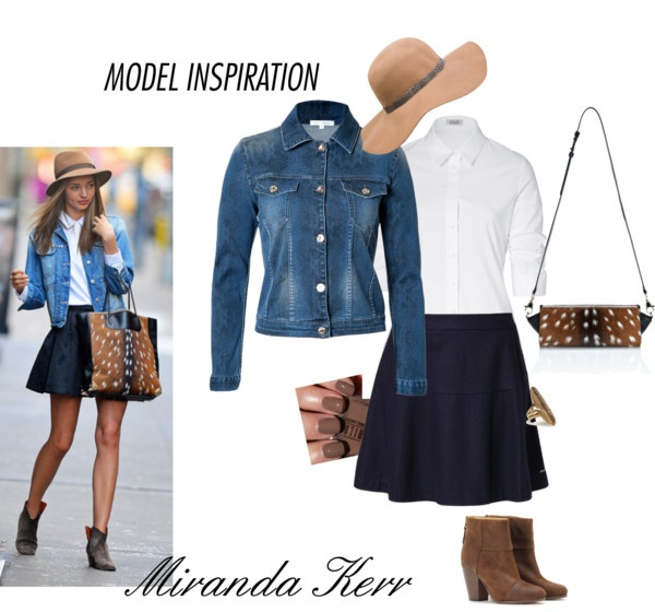 """Miranda Kerr - Denim Jacket"" by erinlindsay83 on Polyvore"