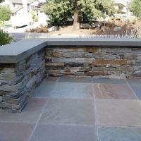 Slate patio ledge/bench | Outdoor Spaces | Pinterest