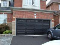 Black garage doors with brick | Decorating / home ideas ...