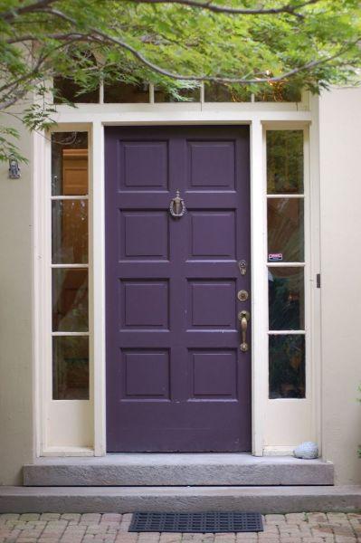 Purple paint color for front door
