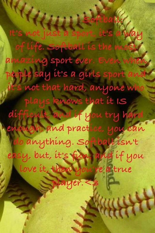 Love Softball Quotes