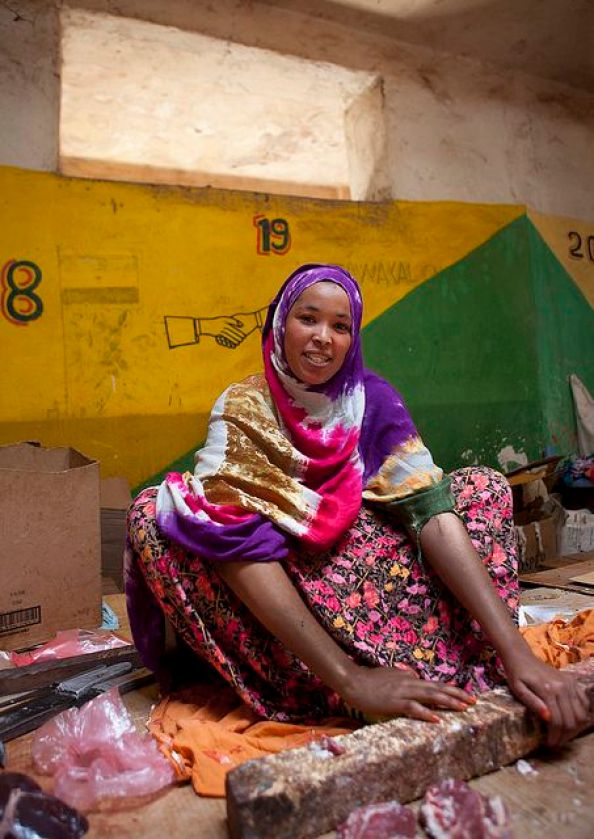 Woman selling camel meat at Market in Hargeisa - Somaliland by Eric Lafforgue, via Flickr