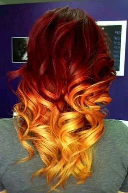 All sizes | orange ombre hair | Flickr - Photo Sharing!