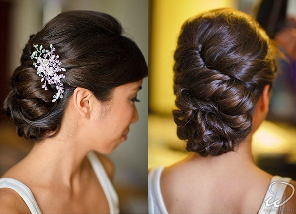 low updo  wedding thoughts  Pinterest